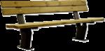 PANCHINA SERIE ELEGANT CON SCHIENALE (verniciata)