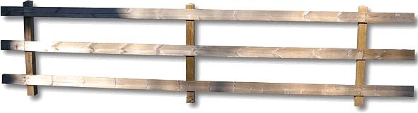 Staccionata serie quadra a tre correnti