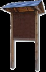 BACHECA BIFACCIALE A GIORNO CON PANNELLI IN MULTISTRATO