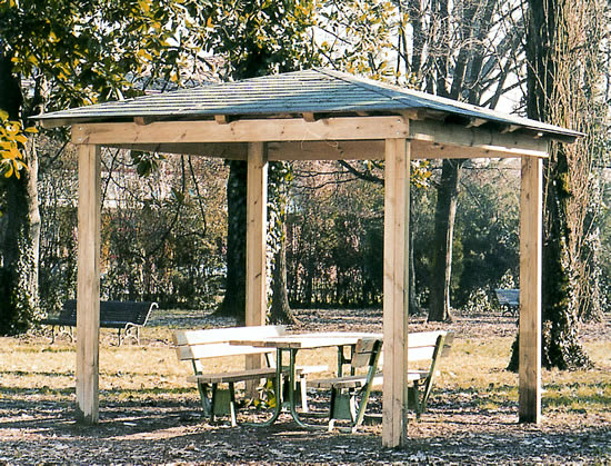 Gazebo base quadrata